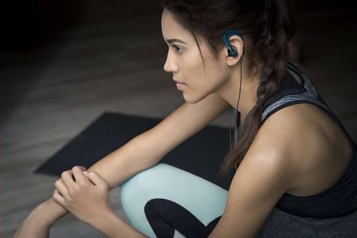 Sport Kopfhörer Philips SHQ3405BL ActionFit In Ear Headset, Ohrbügel, Schweißresistent, Wasserabweisend Petrol