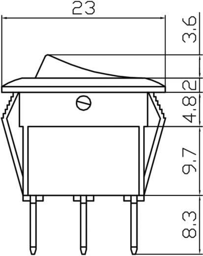 Kfz-Wippschalter 12 V 10 A 1 x Aus/Ein rastend HP Autozubehör Wippschalter Mini Leuchte Blau 1 St.