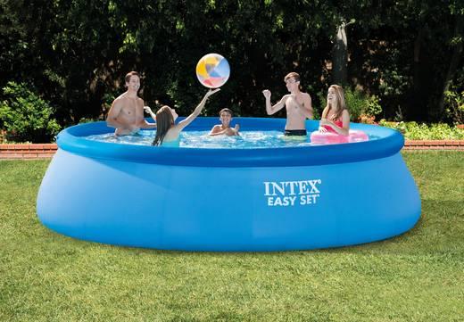 Easy Pool (Aufblasring) Intex 128166NP (Ø x H) 457 cm x 107 cm inkl. Filterpumpe, inkl. Leiter