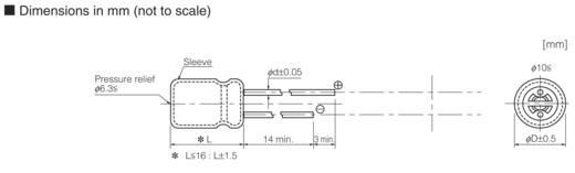 Panasonic EEU-HD1A222 Elektrolyt-Kondensator radial bedrahtet 5 mm 2200 µF 10 V 20 % (Ø) 10 mm 1 St.