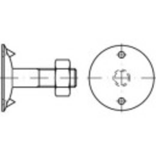Tellerschrauben M8 40 mm Außensechskant Stahl 100 St. TOOLCRAFT 147103