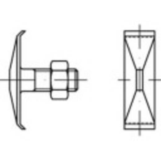 TOOLCRAFT 147123 Klammerschrauben M8 45 mm Außensechskant DIN 25193 Stahl 100 St.