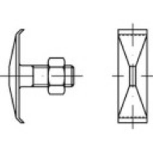 TOOLCRAFT 147126 Klammerschrauben M8 60 mm Außensechskant DIN 25193 Stahl 100 St.