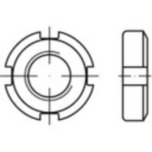 Nutmuttern M80 DIN 70852 Stahl 1 St. TOOLCRAFT 147164