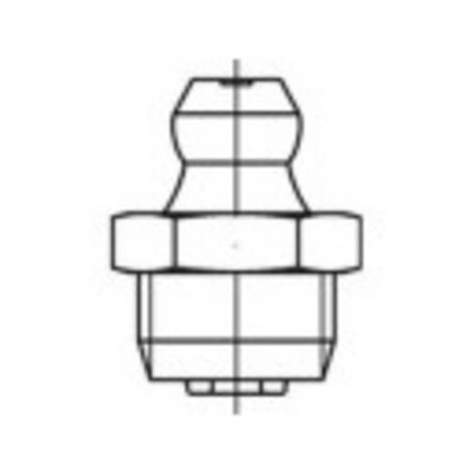 TOOLCRAFT Kegelschmiernippel Stahl galvanisch verzinkt Güte 5.8 100 St.
