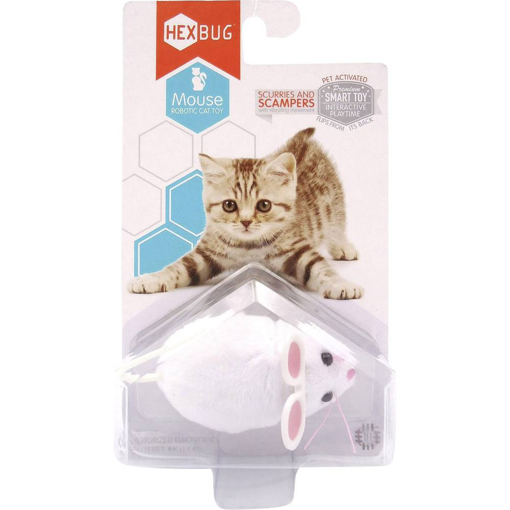 Robot assembly kit hexbug mouse cat toy from for Retractable cat toy