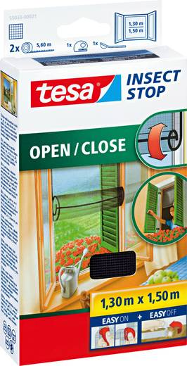 fliegengitter tesa insect stop comfort 55033 21 l x b 1300 mm x 1500 mm anthrazit 1 st kaufen. Black Bedroom Furniture Sets. Home Design Ideas