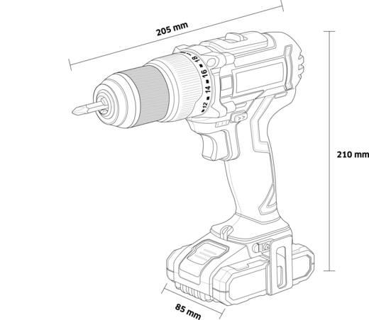 TOOLCRAFT IDD 18 Akku-Schlagbohrschrauber 18 V 2 Ah Li-Ion inkl. Akku, inkl. Koffer