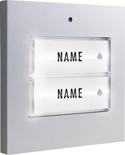 klingeltaster beleuchtet mit namensschild 2 familienhaus m e modern electronics 41049 silber 8. Black Bedroom Furniture Sets. Home Design Ideas