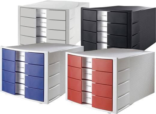 HAN Schubladenbox IMPULS Licht-Grau, Rot 1010-x-17