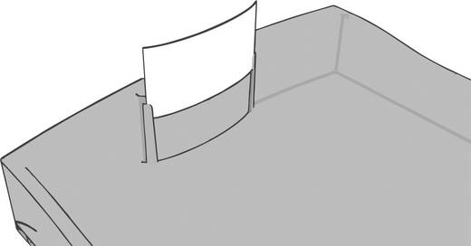 Schubladenbox IMPULS, 1010-X-17, lichtgrau / rot