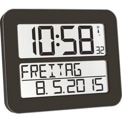 DCF nástenné hodiny TFA Dostmann TimeLine Max 60.4512.01, čierna