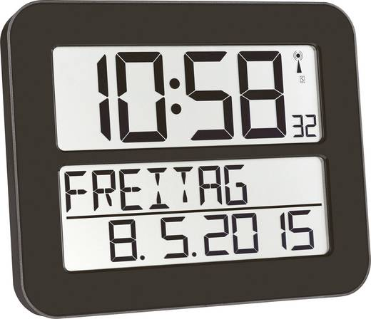 Affordable Tfa Funk Wanduhr Mm X Schwarz With Funkwanduhr Mit Thermometer