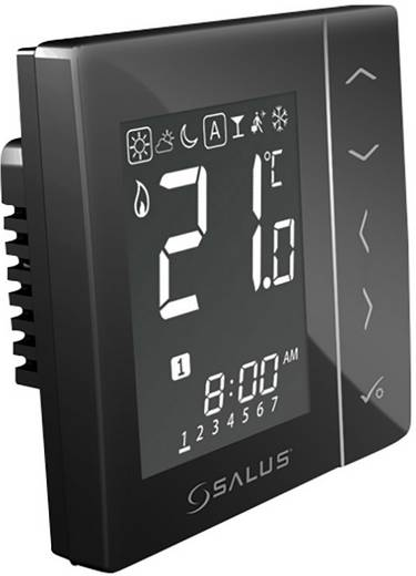 Salus Controls iT600 Funk-Wandthermostat netzbetrieben Schwarz