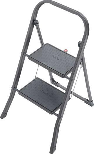 Stahl Montagetritt Arbeitshöhe (max.): 2.25 m Hailo K20 4396-921 Schwarz 5.2 kg