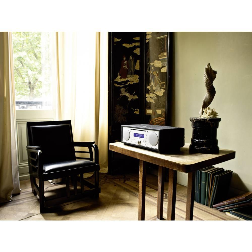 radio de bureau dab tivoli audio music system aux bluetooth cd dab fm noir argent sur le. Black Bedroom Furniture Sets. Home Design Ideas