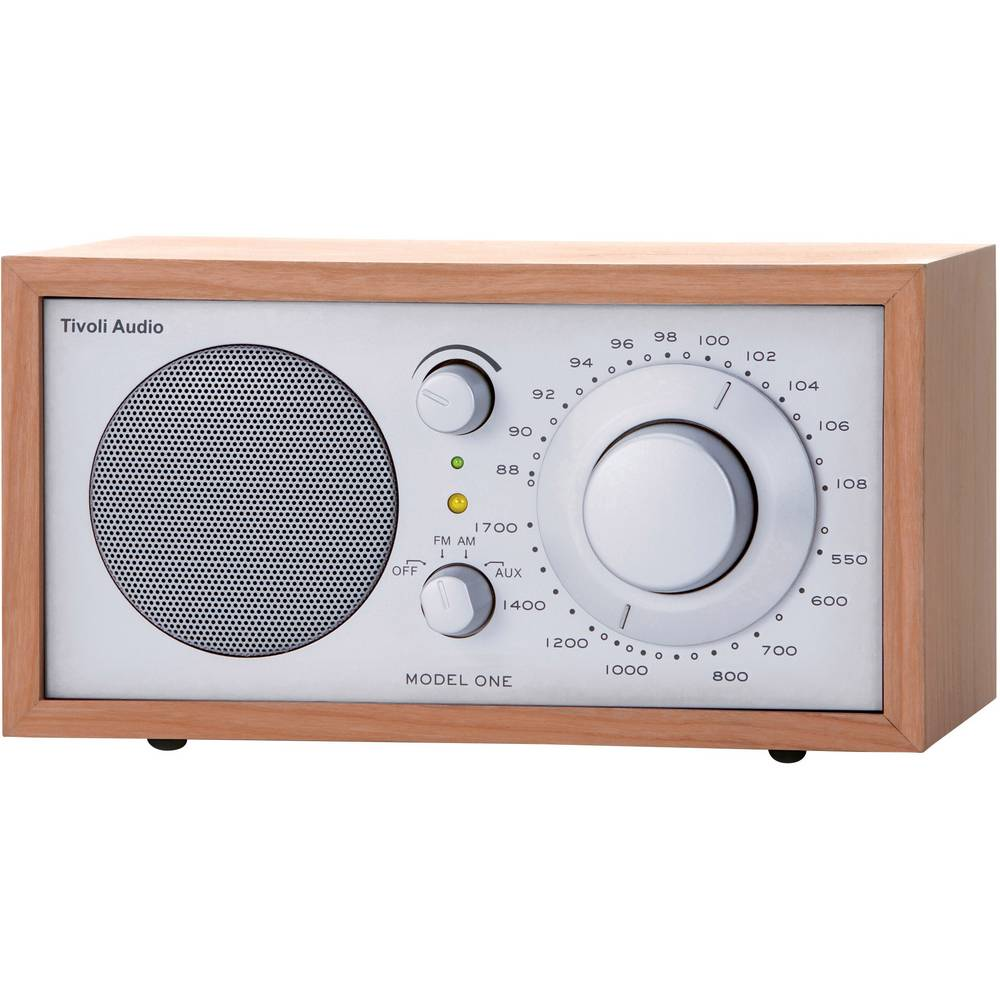 radio de bureau fm tivoli audio model one cerisier argent. Black Bedroom Furniture Sets. Home Design Ideas