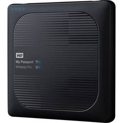 Wi-Fi pevný disk 2 TB WD My Passport Wireless Pro čierna WDBP2P0020BBK-EESN vr. SD adaptéru