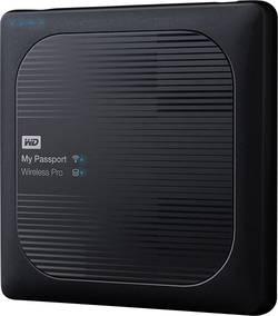 Wi-Fi pevný disk Western Digital My Passport™ Wireless Pro, 4 TB, USB 2.0, USB 3.0, čtečka karet, Wi-Fi 802.11 b/g/n/ac, černá