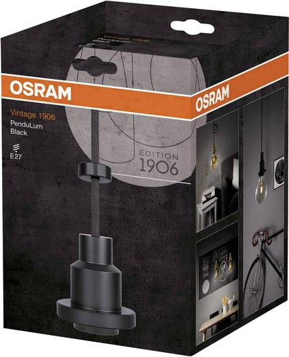 Pendelleuchte LED E27 60 W OSRAM VINTAGE 1906 PenduLum Black 4058075003194 Schwarz