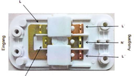 Conrad Components 757-WT Schnurschalter mit Quetschverbinder Weiß 2 x Aus/Ein 2 A 1 St.