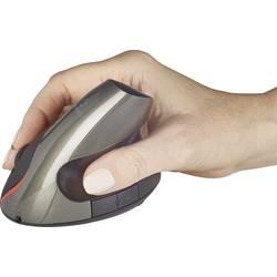 Optická bezdrôtová myš Renkforce RF-439 RF-4458408, ergonomická, je možné znovu nabíjať, čierna