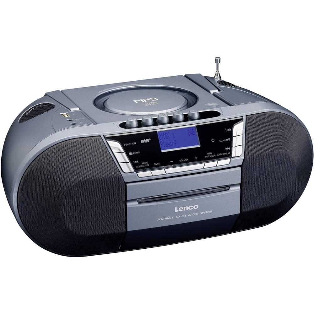 dab radio cd lenco aux cd dab tape fm usb silver. Black Bedroom Furniture Sets. Home Design Ideas