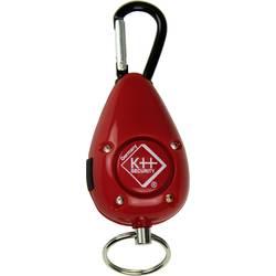 Vreckový alarm kh-security 100189, s LED , červená