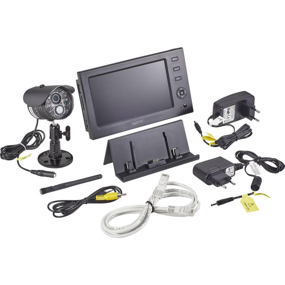 Funk-Überwachungskamera-Set 4-Kanal mit 1 Kamera 640 x 480 Pixel 2.4 ...
