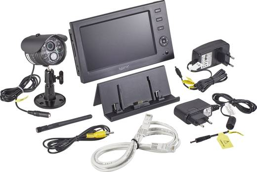 sygonix large monitor 16885w1 funk berwachungskamera set. Black Bedroom Furniture Sets. Home Design Ideas
