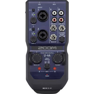Audio Interface Zoom U-44 inkl. Software, Monitor-Controlling Preisvergleich