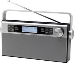 DAB+ přenosné rádio SoundMaster DAB650SI, AUX, DAB+, FM, s akumulátorem, stříbrná, černá