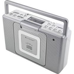 FM rádio s CD prehrávačom SoundMaster BCD480, AUX, CD, UKW, strieborná