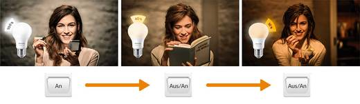 Philips Lighting LED EEK A+ (A++ - E) E27 Glühlampenform 8 W = 60 W Warmweiß (Ø x L) 61 mm x 107 mm SceneSwitch 1 St.