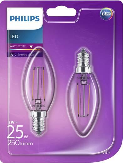 led e14 kerzenform 2 w 25 w warmwei x l 35 mm x 97 mm eek a philips lighting filament. Black Bedroom Furniture Sets. Home Design Ideas