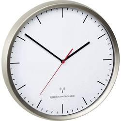 DCF nástenné hodiny TFA Dostmann 60.3521.02 60.3521.02, vonkajší Ø 30.5 cm, nerezová oceľ kartáčovaná
