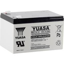Olovený akumulátor Yuasa REC14-12 YUAREC1412, 14 Ah, 12 V