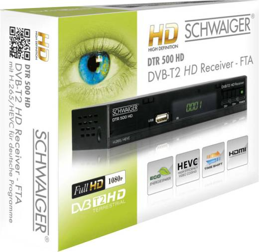 schwaiger dtr500hd dvb t2 receiver kaufen. Black Bedroom Furniture Sets. Home Design Ideas