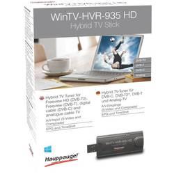 USB TV tuner DVB-C a DVB-T2 a DVB-T tuner Hauppauge WinTV-HVR-935HD funkcia záznamu, s DVB-T anténou, s diaľkovým ovládaním