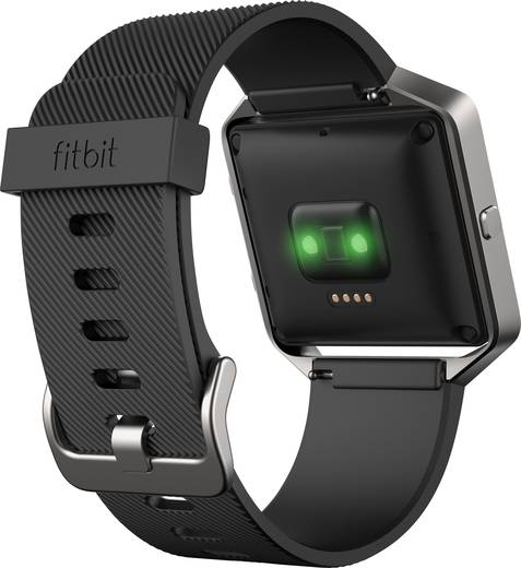 gps pulsuhr ohne brustgurt fitbit blaze black small. Black Bedroom Furniture Sets. Home Design Ideas