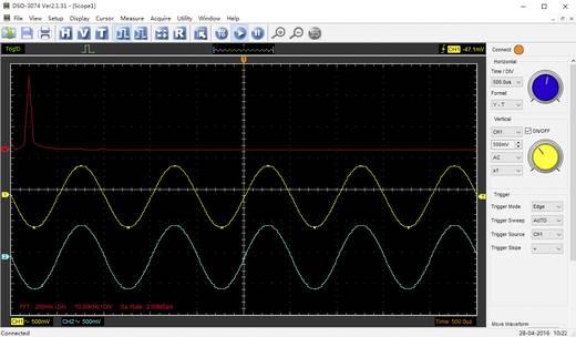 Oszilloskop-Vorsatz VOLTCRAFT DSO-3074 70 MHz 4-Kanal 250 MSa/s 16 kpts 8 Bit Digital-Speicher (DSO), Spectrum-Analyser