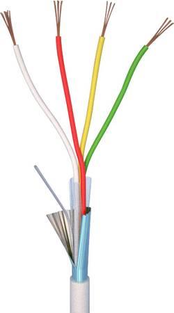 Câble d'alarme LiYY ELAN 70I138 4 x 0.22 mm² blanc 10 m