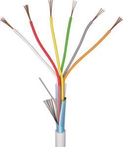 Câble d'alarme LiYY ELAN 70I140 6 x 0.22 mm² blanc 10 m
