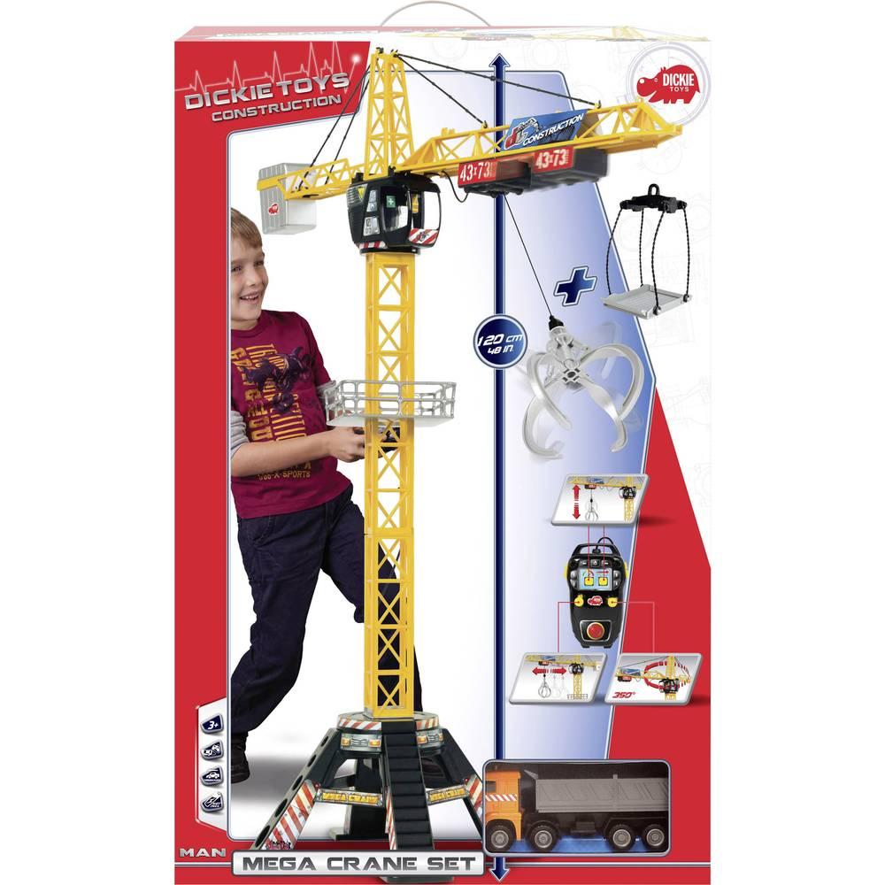 dickie toys mega crane set kran mit kabelsteuerung im