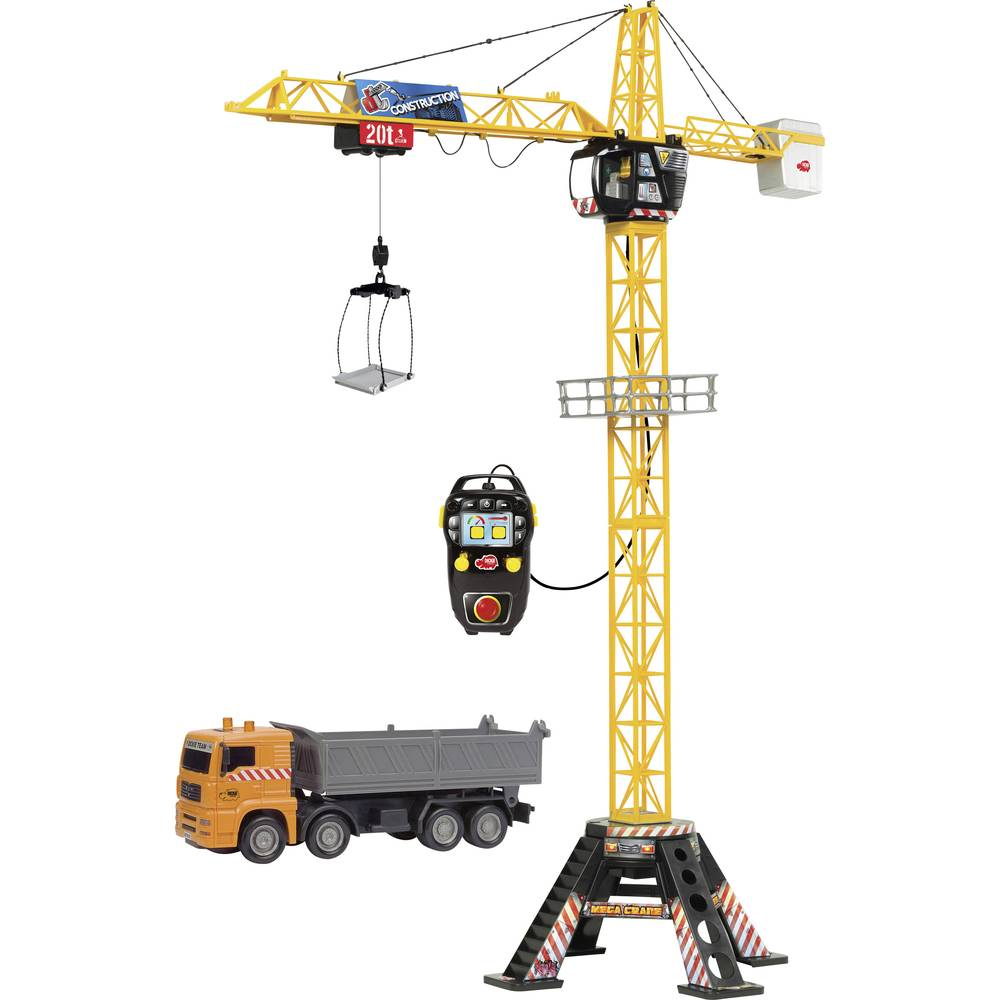 dickie toys mega crane set kran mit kabelsteuerung im conrad online shop 203462413. Black Bedroom Furniture Sets. Home Design Ideas