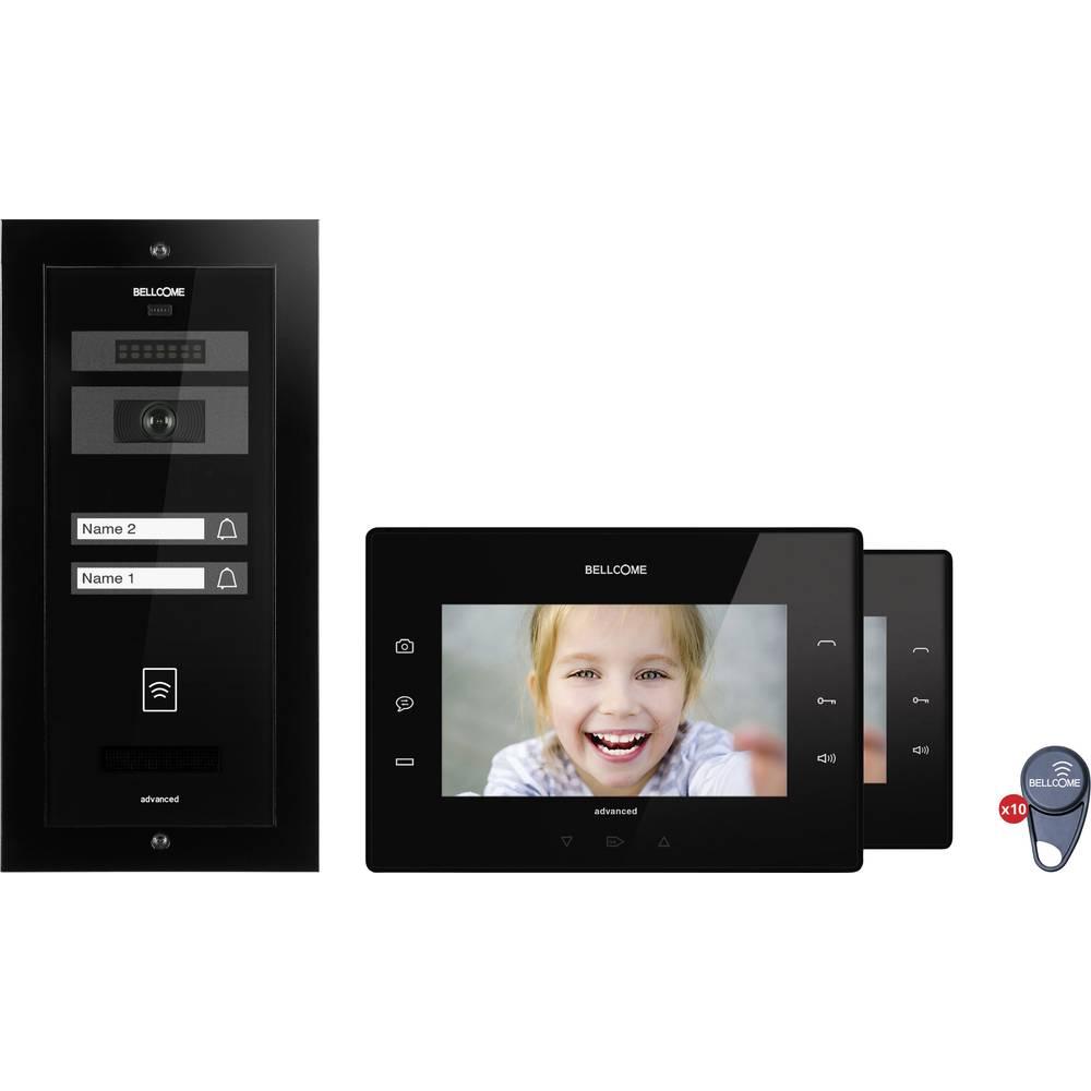 Set complet d 39 interphone vid o filaire 2 foyers bellcome - Interphone pour communiquer d une piece a l autre ...