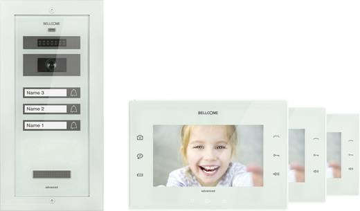 bellcome kit vpa 3f002 blw video t rsprechanlage kabelgebunden komplett set 3 familienhaus wei. Black Bedroom Furniture Sets. Home Design Ideas