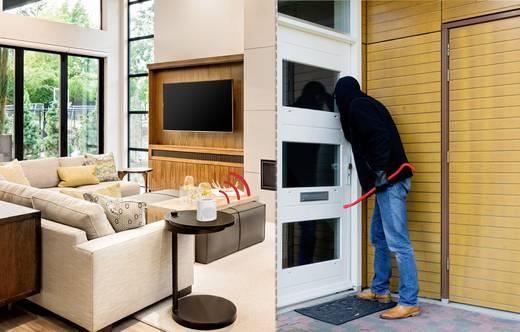 Elektronischer Wachhund Weiß mit Fernbedienung 120 dB Sygonix DD01