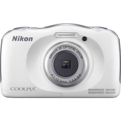 Nikon W-100 Weiß Digitalkamera 13.2 Mio. Pixel Opt. Zoom: 3 x Weiß Full HD Video, Unterwas Preisvergleich