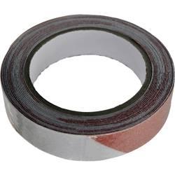 Vytyčovacia páska lepiaca TOOLCRAFT ANST255M-RW, (d x š) 5 m x 25 mm, červená, biela, 1 ks